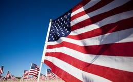 Indicador da bandeira dos EUA que comemora o feriado nacional Imagens de Stock