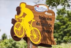 Indicador da estrada durante o Tour de France Imagem de Stock