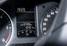 Indicador da extensão longitudinal da viagem do painel do velocímetro do painel do carro auto Imagem de Stock