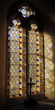 Indicador da igreja do vidro manchado Foto de Stock