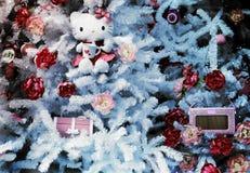 Indicador da loja do Natal Imagens de Stock Royalty Free