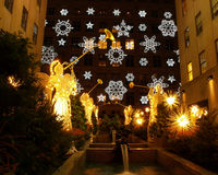 Indicador da luz do feriado no centro de Rockefeller Imagens de Stock Royalty Free