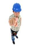 Indicador da mão do reparador Fotos de Stock