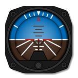 Indicador de actitud del aeroplano de la aviación - horizonte artificial del giroscopio Foto de archivo libre de regalías