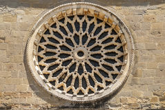 Indicador de Amatrice - de Rosa da igreja de Sant'Agostino Imagens de Stock Royalty Free