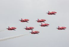 Indicador de ar vermelho das setas Imagens de Stock Royalty Free