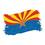 Indicador de Arizona Movimiento abstracto del cepillo del Grunge aislado en un fondo blanco Ilustración del vector stock de ilustración