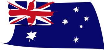 Bandera de Australia torcida imagen de archivo libre de regalías