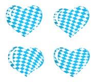 Indicador de Baviera como iconos del corazón Foto de archivo libre de regalías