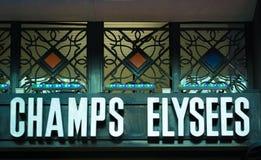 Indicador de Champs-Elysees de París Foto de archivo libre de regalías