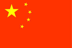 Indicador de China Imágenes de archivo libres de regalías