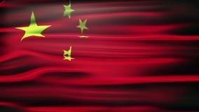 Indicador de China Un cierre chino animado de la bandera para arriba que agita con la luz y las llamaradas libre illustration
