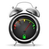 Indicador de combustible del diseño del reloj. ilustración del vector