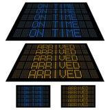 Indicador de diodo emissor de luz - jogo 2 - no tempo e chegado Imagem de Stock Royalty Free