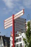 Indicador de dirección de la calle de Colonia imagen de archivo libre de regalías