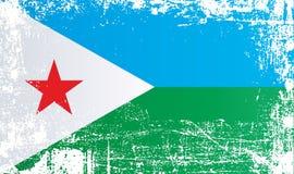 Indicador de Djibouti Puntos sucios arrugados ilustración del vector