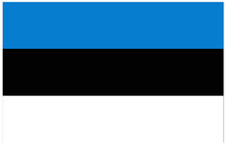Indicador de Estonia Imagenes de archivo