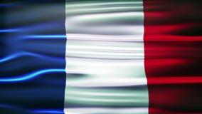 Indicador de Francia Bandera oficial francesa que agita suavemente en el viento ilustración del vector