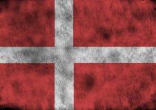 Indicador de Grunge Dinamarca stock de ilustración