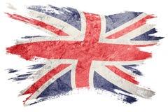 Indicador de Grunge Gran Bretaña Bandera de Union Jack con textura del grunge stock de ilustración