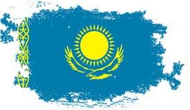 Bandera de Kazajistán del Grunge Imagen de archivo