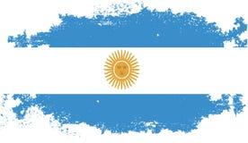 Bandera de la Argentina del Grunge Foto de archivo
