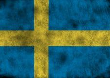 Indicador de Grunge Suecia stock de ilustración
