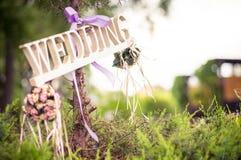 Indicador de la boda Fotografía de archivo