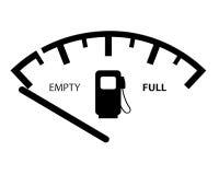 Indicador de la gasolina Imagenes de archivo