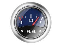 Indicador de la gasolina. Fotografía de archivo