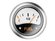 Indicador de la gasolina. Fotos de archivo