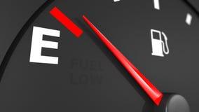 Indicador de la gasolina e indicador que lo mueven encendido stock de ilustración