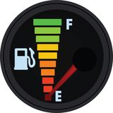 Indicador de la gasolina, el tanque vacío ilustración del vector