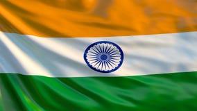 Indicador de la India ejemplo 3d de la bandera que agita de la India libre illustration