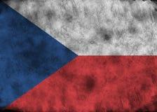 Indicador de la República Checa de Grunge ilustración del vector