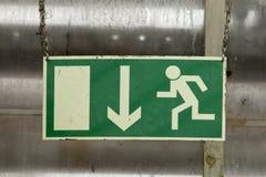 Indicador de la ruta de escape Imagen de archivo