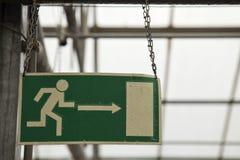 Indicador de la ruta de escape Fotografía de archivo