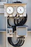Indicador de la temperatura Fotografía de archivo