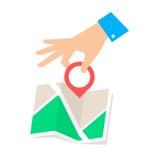 Indicador de la ubicación Fotos de archivo libres de regalías