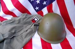 Indicador de los E.E.U.U. y uniforme histórico Foto de archivo