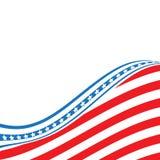 Indicador de los E Estados Unidos señalan el fondo por medio de una bandera Vector EPS 10 stock de ilustración