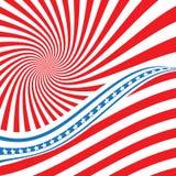 Indicador de los E Símbolo americano Icono de la bandera de los E.E.U.U. Ejemplo para Día de la Independencia el 4 de julio Bande libre illustration