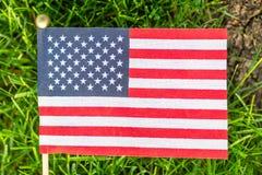 Indicador de los Estados Unidos Fondo de la hierba verde E imagen de archivo