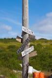 Indicador de los posts en la tundra Imagenes de archivo