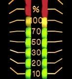 indicador de nível distorcido colorido três Fotos de Stock