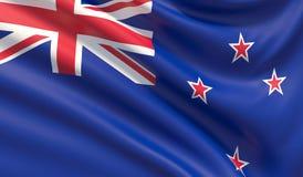 Indicador de Nueva Zelandia Textura altamente detallada agitada de la tela ilustración 3D ilustración del vector