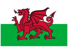 Indicador de País de Gales Fotos de archivo libres de regalías