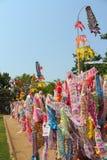 Indicador de papel del color para la adoración de Buddha Fotografía de archivo libre de regalías