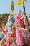 Indicador de papel del color para la adoración de Buddha Foto de archivo libre de regalías