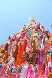 Indicador de papel del color para la adoración de Buddha Fotos de archivo libres de regalías